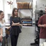 názorná ukážka kresliacich nástrojov špeciálne pre litografiu
